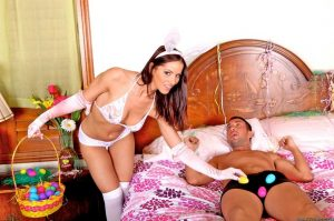 Angel Dark is a Horny Easter Bunny