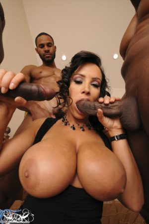 Lisa Ann Has an Interracial Fourway