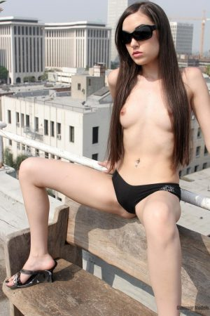 Sasha Grey Naked on the Roof